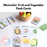 Minimalist Fruit and Vegetable Flash Cards | Homeschool |