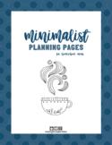 Minimalist Homeschool Planning Pages