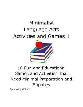 Minimalist Language Arts Games and Activities End of Year & Substitutes
