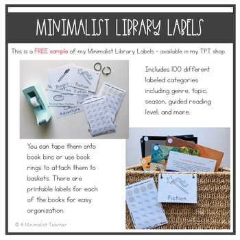 Minimalist Library Labels - FREE SAMPLE