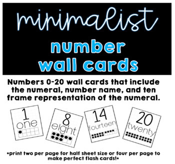 Minimalist Number Wall Cards