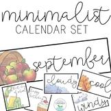 Minimalistic Calendar Set
