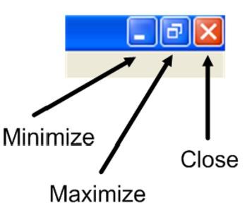 Minimize Maximize & Close Button Poster --COMPUTER / TECHNOLOGY CENTER OR LAB