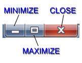 Minimize/Maximize/Close Poster