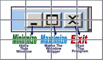 Minimize A Window, Maximize A Window, & Exit