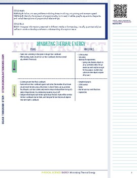 Minimizing Thermal Energy - STEM Lesson Plan with Journal Page