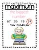 Minimum, Maximum, Range, and Mode Vocabulary Posters