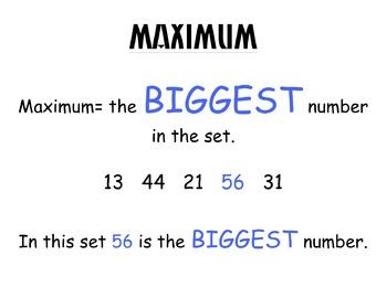 Minimum/Maximum Visual Aid
