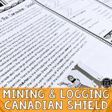 Mining & Logging in Canadian Shield Reading Activity (SS6G