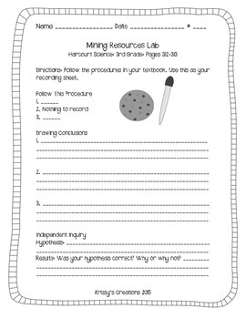Mining Resources Lab: 3rd Grade: Harcourt