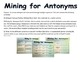 Antonym Craftivity Mining Antonyms Interactive Word Wall Center with QR Codes