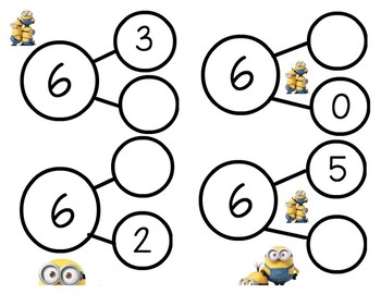 Minion 1st Grade Number Bonds Math Game - Engage NY Module 1 - Center