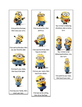 Minion 2-Step Directions