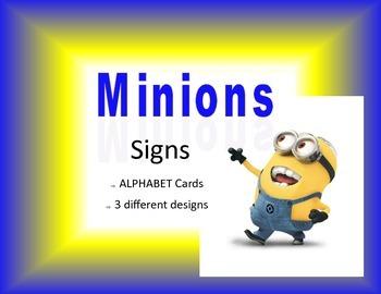 Minion Alphabet cards