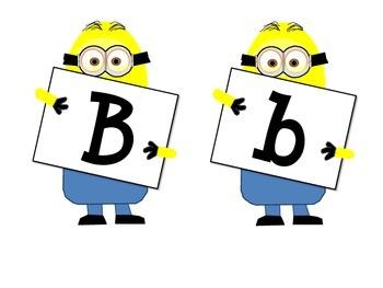 Minion Alpphabet and Numbers Theme