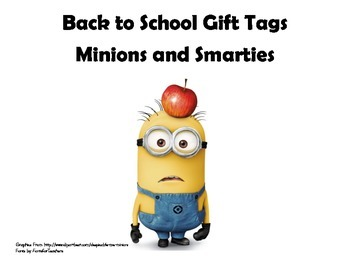 Minion Back to School Gift Tags
