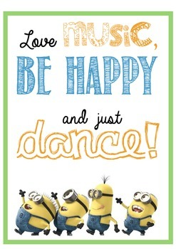 Minion Be Happy & Dance Poster