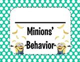 Minion Behavior Clip Chart