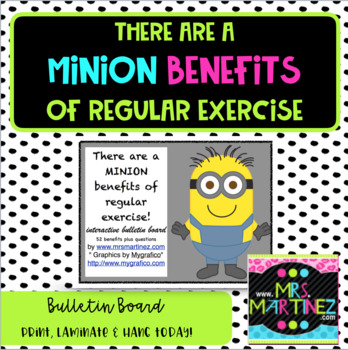 Minion Benefits of Exercise Bulletin Board