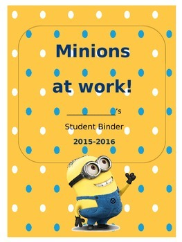 Minion Binder Cover sheet (editable)