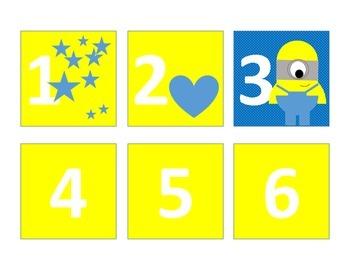 Minion Calendar Numbers