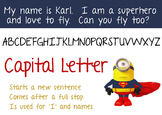 Minion Capital Letters Poster
