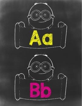 Minion Chalkboard Theme Alphabet