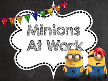 Classroom Jobs (minion theme, noneditable pdf version)