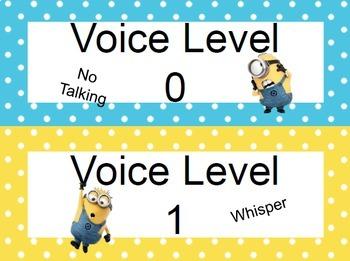 Minion Classroom Voice Level