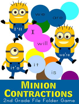 Minion Contractions File Folder Game - 2nd Grade Language Arts
