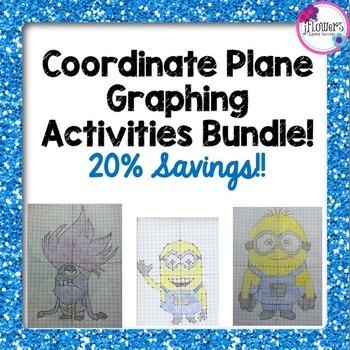Coordinate Plane Graphing Activities Bundle! 20% Savings