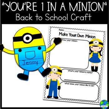 Back to School Minion Craftivity Copy-N-Go