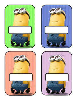 Minion Cubbie Tags