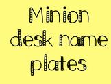 Minion Desk Plates (1-20 and hundreds chart)