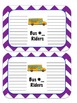 Minion Dismissal Cards Purple Chevron