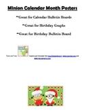 Minion EDITABLE Calendar Posters