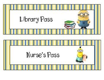 Minion Hall Passes