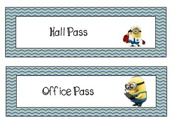 Minion Hall Passes