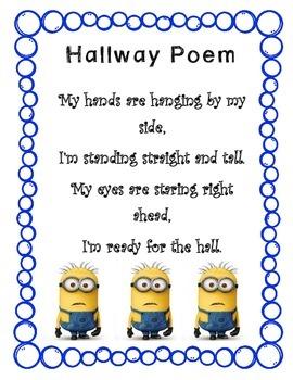 Minion Hallway Poem