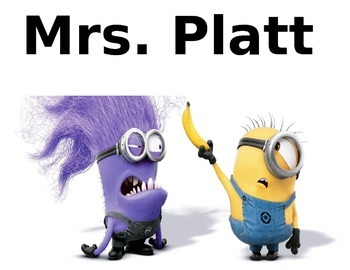 Minion Letter Size Editable Classroom Signs and Decoration