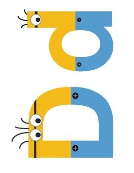 Minion Letters Word Wall size/Bulletin Board size