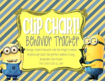 Yellow Mini Madness! Behavior Clip Chart
