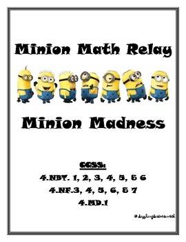Minion Madness Math Relay