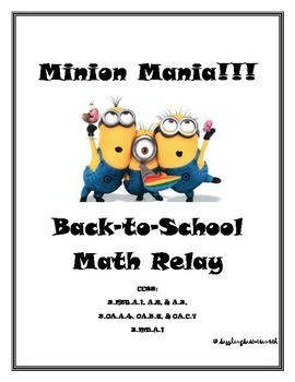 Minion Mania Back-to-School Math Relay