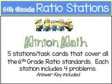 Minion Math: 6th Grade Math Ratio Stations