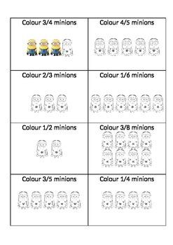 Minion Math - Fractions (parts of a set)