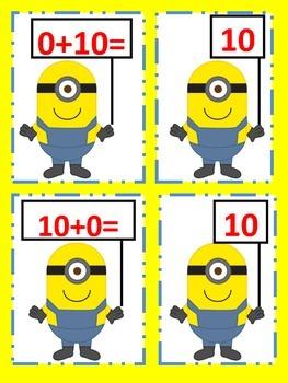 Minion Math Matching: Addition