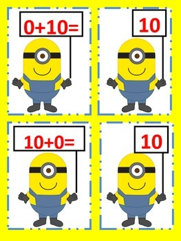 Minion Math Matching: Addition