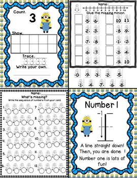 Minion Math (Numbers 0-20: Centers, crowns, number bonds and MORE!)