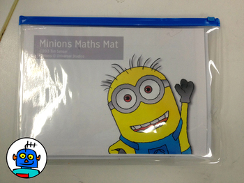 Math Mat Review Activity for Addition and Subtraction with The Minions !